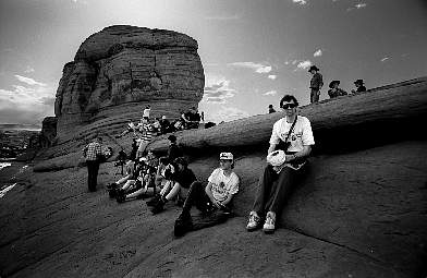 Waiting for the sunset at Delicate Arch, Arches National Park