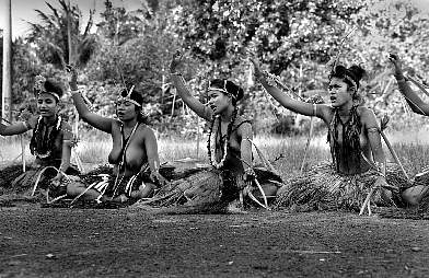 Traditional dance on the Island of Yap/Federal States of Micronesia